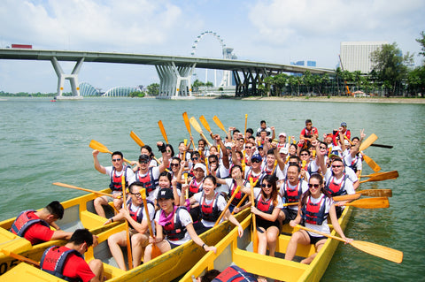 Team building activity - dragon boat