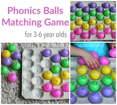 Stay home activity through phonics ball