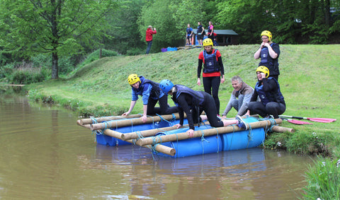 Team Building Activity - Building a Raft