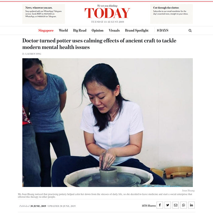 TodayOnline, Doctor turned potter modern mental health issues