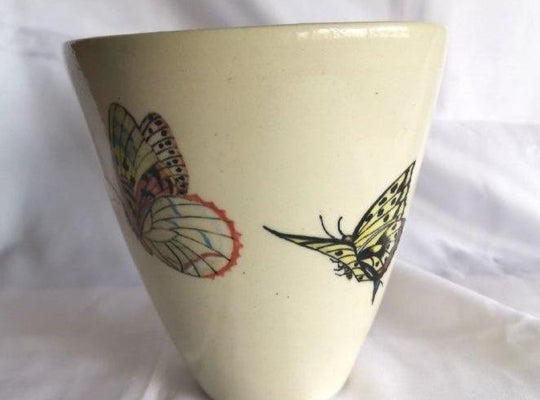 Crackled Butterfly Bowl