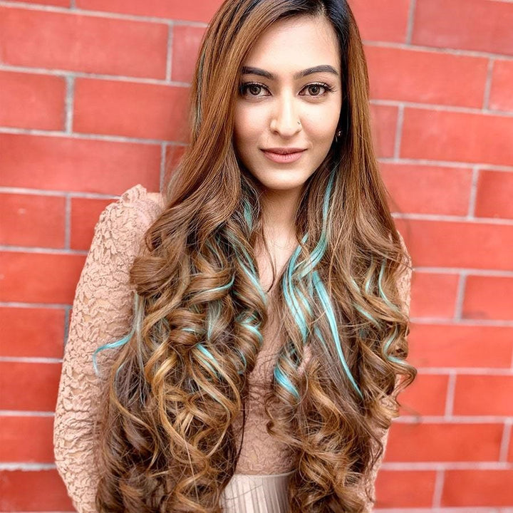 How to Apply Colored Clip-in Hair Extensions