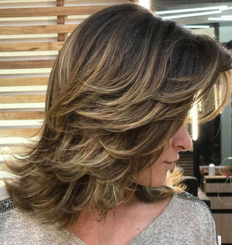 Medium Cut with Angled and Feathered Layers