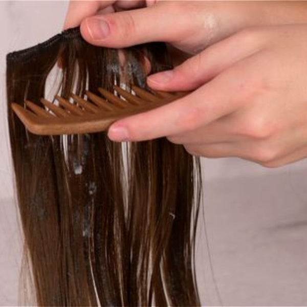 Condition the clip in hair streaks