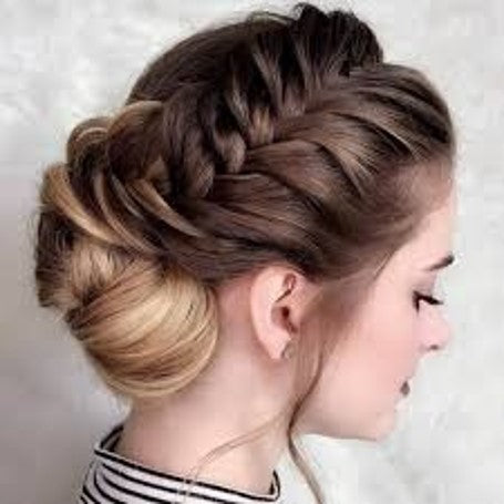 Side Braid With A Bun