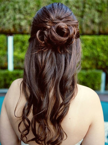 Cute little half-updo hairstyle