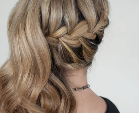 Pull through braid with hair extensions