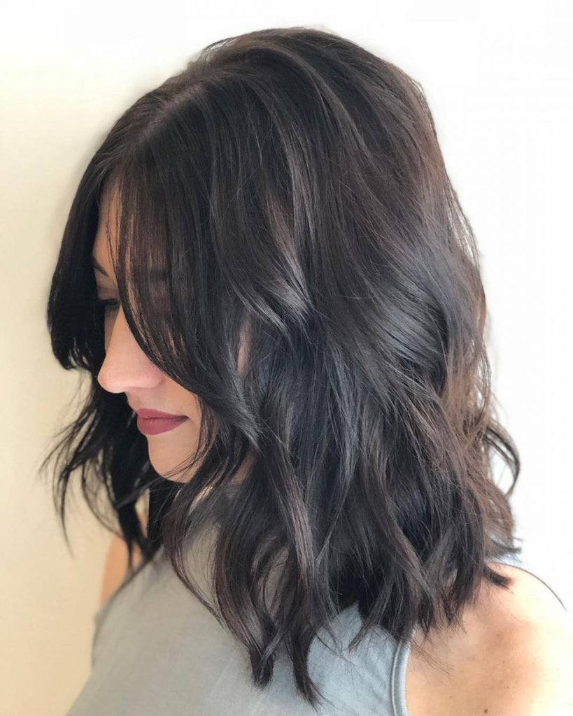 Side Parted Messy Bob