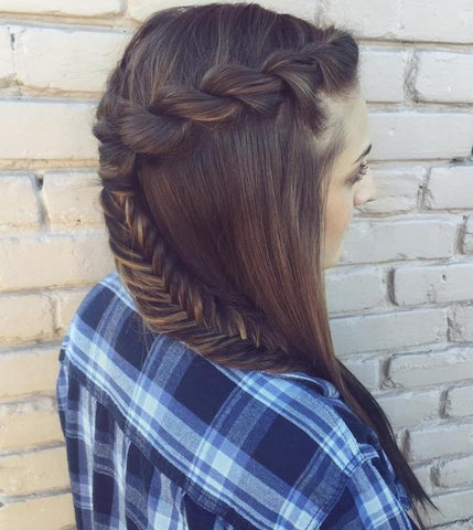 Rope Twist On A Ponytail