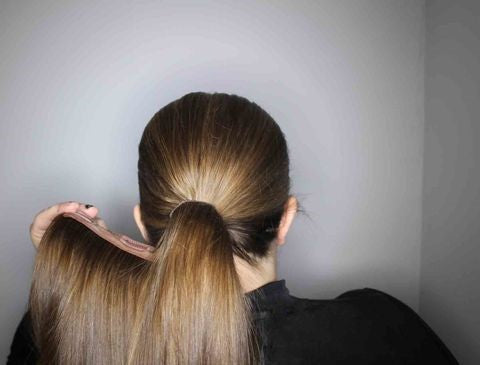 Crimped and Neat Ponytail