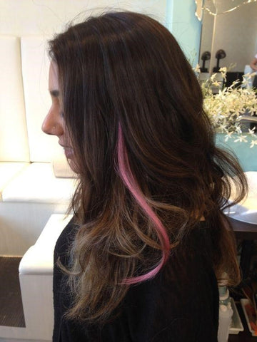 A subtle pink clip in extension