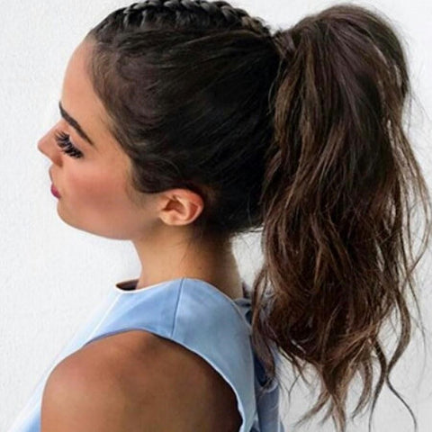 Top Braids with A Ponytail