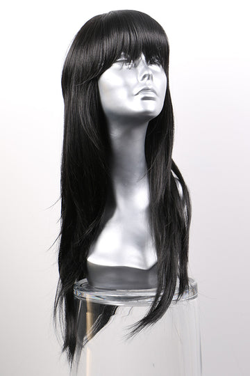 "Natural Black Synthetic Wig: ""Tanya"""