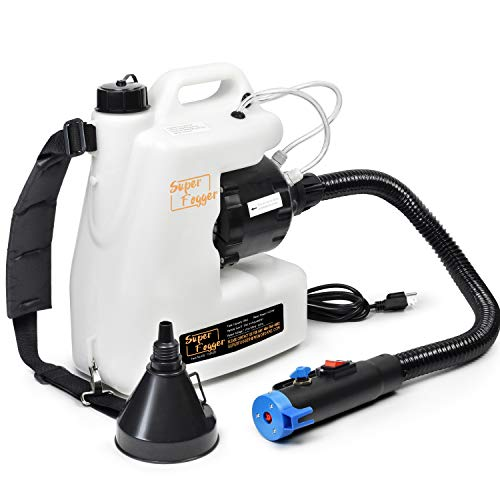 Portable ULV Fogger Machine,Backpack Disinfectant Mist Duster Sprayer,3Gal Adjustable Particle Size 0-50μm with Extended Commercial Hose Spray Nozzle for Indoor/Outdoor/Garden/Home/Hotel/School