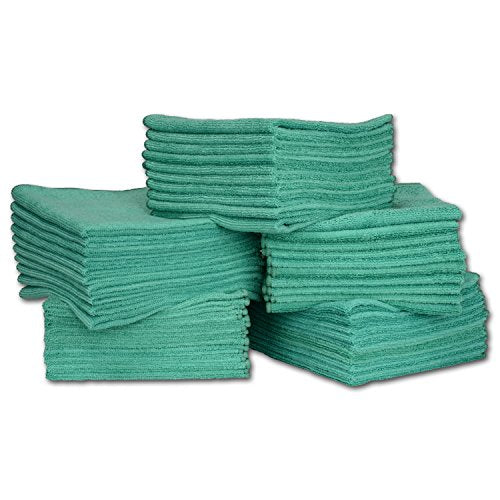 "Bulk 16"" x 16"" Economy All Purpose Microfiber Towels Wholesale - Case Quantity (200 Count) 