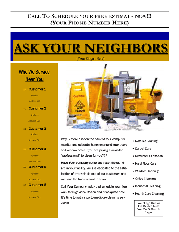 Flyer - Ask Your Neighbors