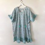 CARA STEVIE ORGANIC COTTON DRESS IN TURQUOISE