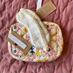 HAND-PRINTED SILK MAKE-UP BAG AND EYE MASK IN STAR PRINT