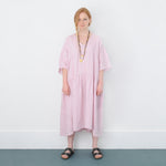JADE WASHED LINEN TIERED DRESS
