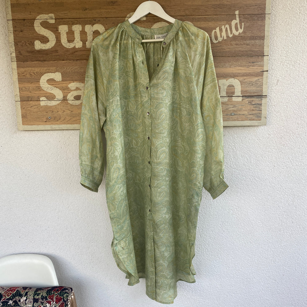 Julie recycled silk sari shirt dress