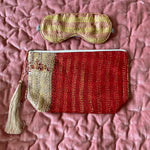 RECYCLED KANTHA TRAVEL BAG AND EYE MASK (12)