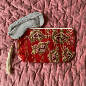 Recycled Kantha Travel Bag Eye Mask