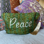 Recycled Kantha Peace Travel Bag