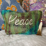 RECYCLED KANTHA PEACE BAG