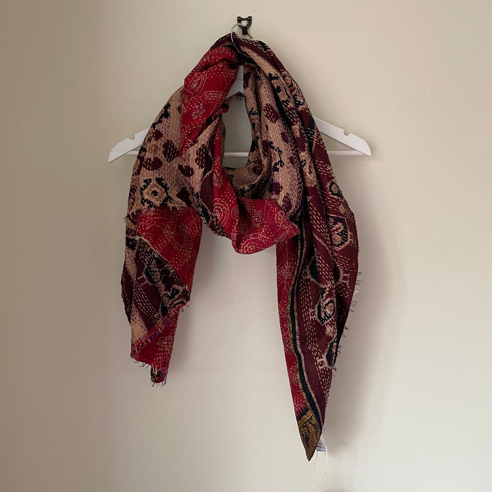 recycled kantha scarf