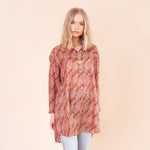LAUREL JUNE RECYCLED SILK LONGLINE TUNIC