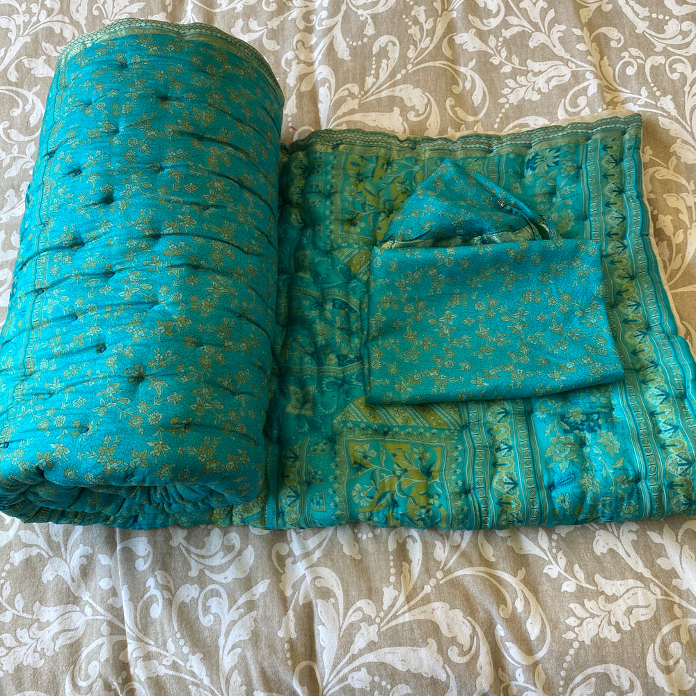 LAUREN RECYCLED SILK SARI QUILT AND BAG