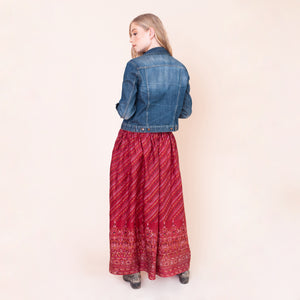 LETITIA PINATUBO RECYCLED SILK MAXI SKIRT