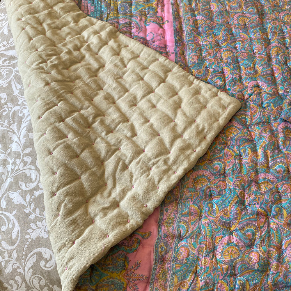 LOTTIE RECYCLED SILK SARI QUILT AND BAG
