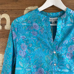 LOU LOU CORNFLOWER RECYCLED SARI TOP