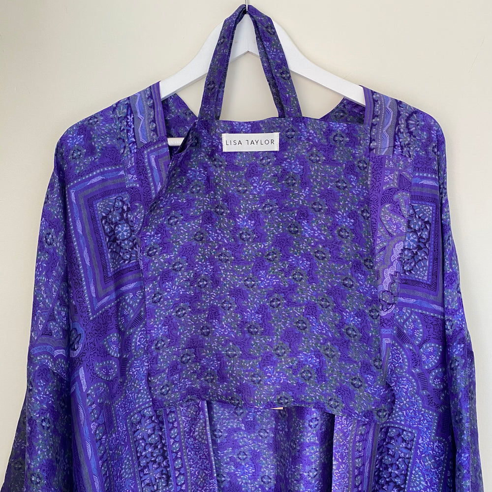 LUCINDA RECYCLED SILK KIMONO DRESSING GOWN