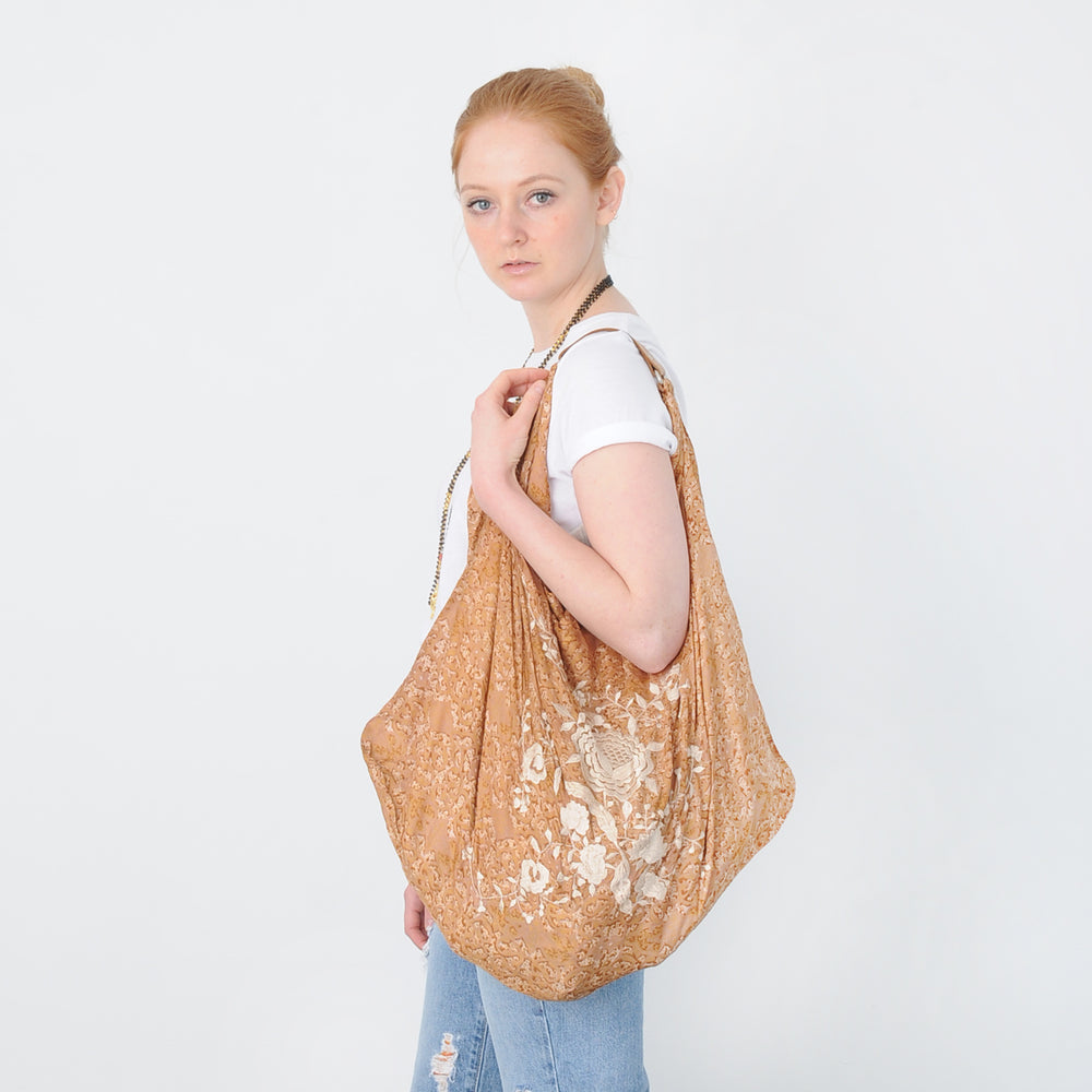 LUCY RECYCLED SILK RESORT BAG