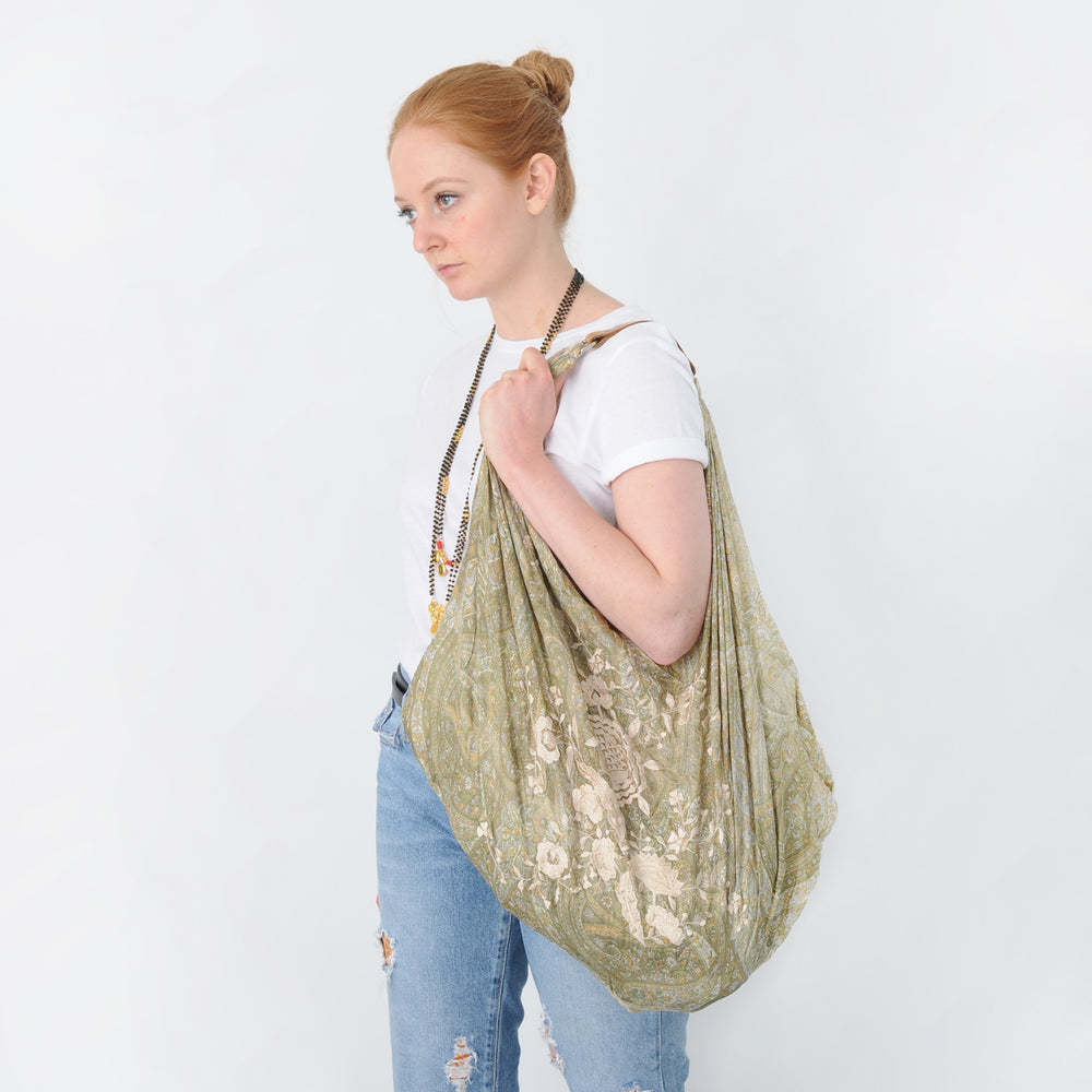 LULU RECYCLED SILK RESORT BAG
