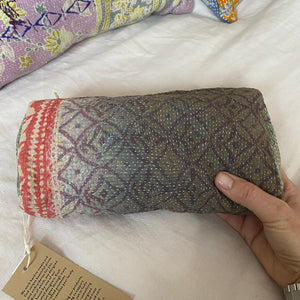 recycled cotton kantha bag