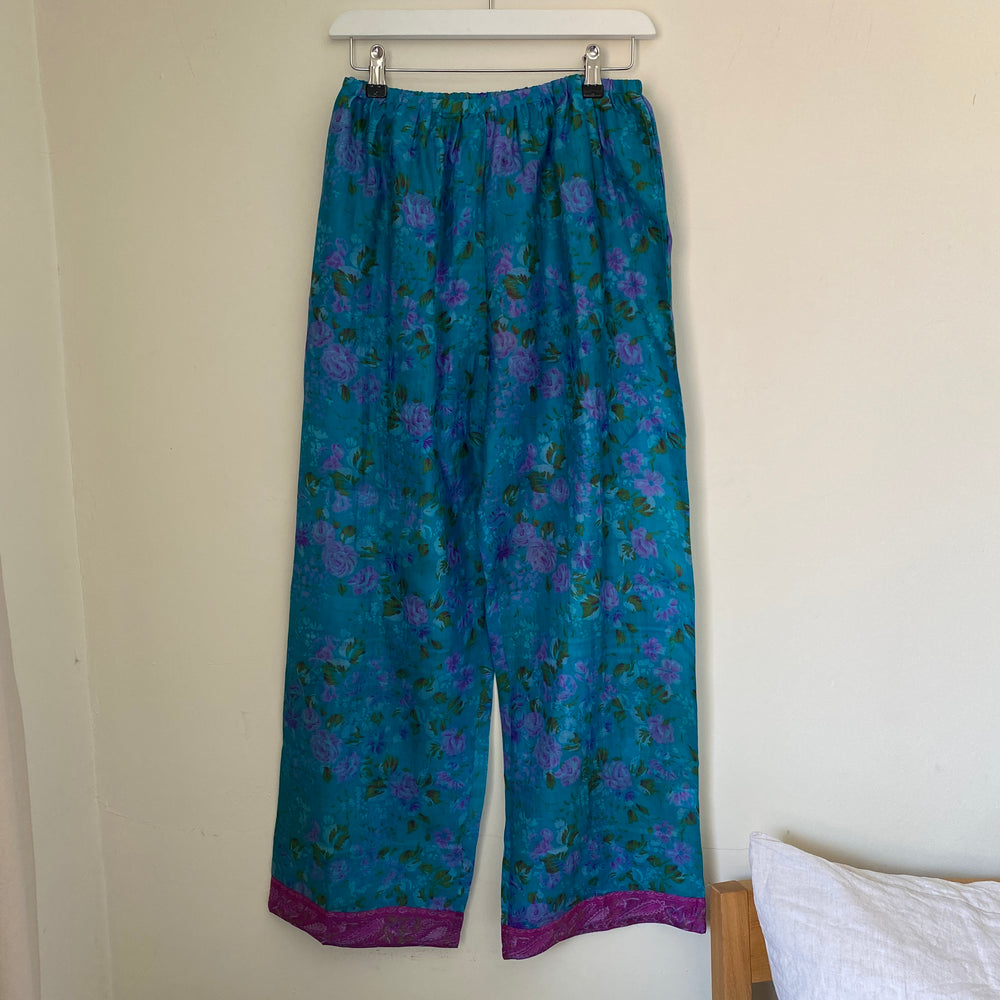 recycled silk pj bottoms