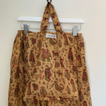 recycled silk pj bottoms and bag