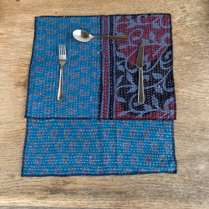 RECYCLED COTTON KANTHA PLACE MATS (10)