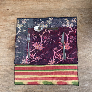 RECYCLED COTTON KANTHA PLACE MATS (25)