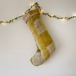 Recycled Kantha Christmas Stocking