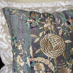 RECYCLED SILK KANTHA CHERRY BLOSSOM EMBROIDERED CUSHION (23)