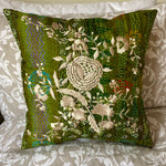 RECYCLED SILK KANTHA CHERRY BLOSSOM EMBROIDERED CUSHION (24)
