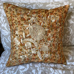 RECYCLED SILK KANTHA CHERRY BLOSSOM EMBROIDERED CUSHION (31)