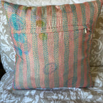 RECYCLED SILK KANTHA CHERRY BLOSSOM EMBROIDERED CUSHION (32)
