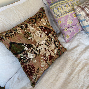 RECYCLED SILK KANTHA CHERRY BLOSSOM EMBROIDERED CUSHION (4)