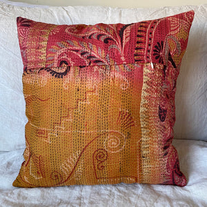 RECYCLED SILK KANTHA CHERRY BLOSSOM EMBROIDERED CUSHION (7)