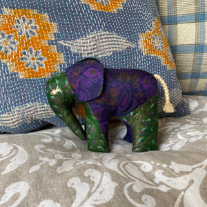 RECYCLED SILK SARI ELEPHANT (19)